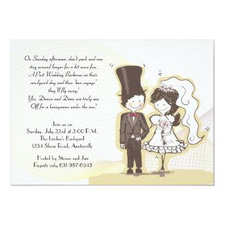 Invitación adorable del boda del poste de los invitación 12,7 x 17,8 cm