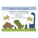 Invitación adorable del cumpleaños de Dino/de los