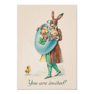 Invitación adorable del fiesta de Pascua del Invitación 8,9 X 12,7 Cm