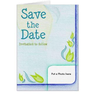 Invitación adornada del boda de la flor simple tarjetón