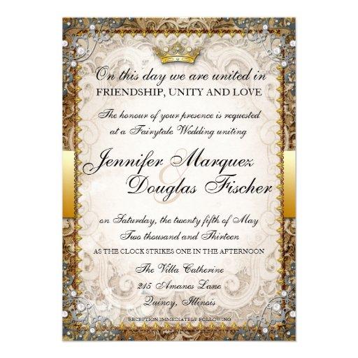 Invitación adornada del boda del guión del cuento