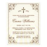 Invitación adornada poner crema elegante del bauti