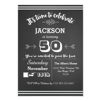 Invitación adulta 50.a, 60.a, 40.a de la fiesta de