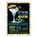 Invitación adulta del fiesta del verano de los cóc