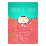 Invitación afiligranada de oro del boda de Jazmene