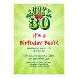 Invitación afortunada de 30 fiestas en verde