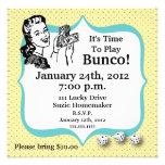 Invitación afortunada del jugador de Bunco por Art