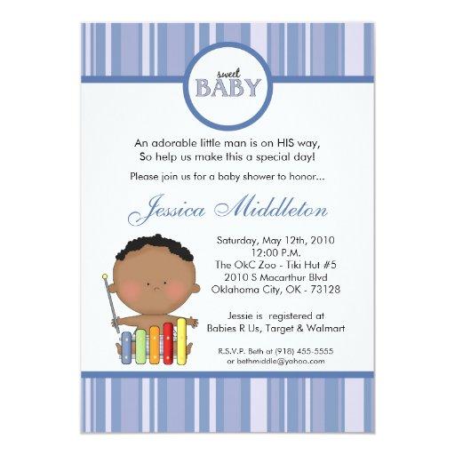 invitación africana azul de la fiesta de