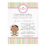 invitación africana femenina de la fiesta de bienv