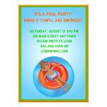 Invitación afroamericana del cumpleaños de la pisc