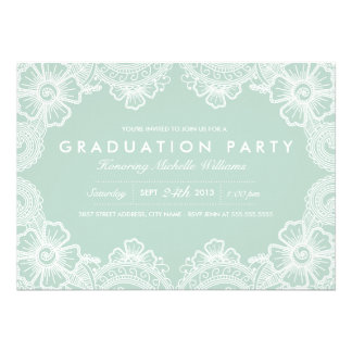 Invitación agraciada del fiesta del graduado del c