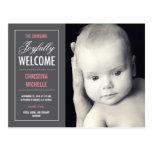 Invitación agradable alegre del nacimiento postales