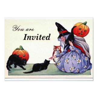 Invitación agradable de Halloween del búho de los