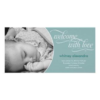 Invitación agradable preciosa del nacimiento del b tarjeta fotografica