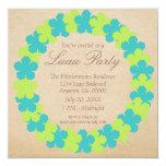 Invitación, aguamarina y verde hawaianos del invitación 13,3 cm x 13,3cm