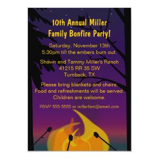 Invitación al aire libre del fiesta de la hoguera