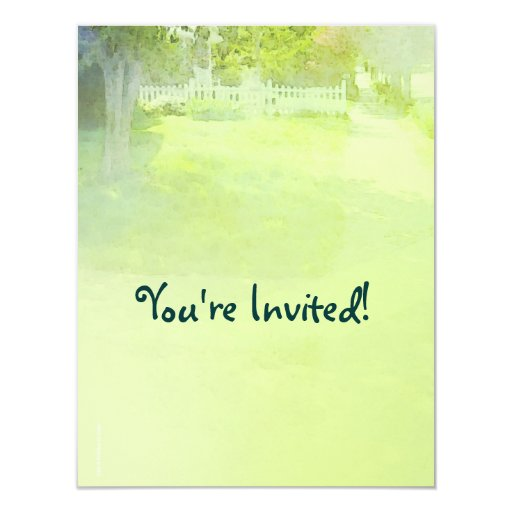 Invitación al aire libre del fiesta del verano de