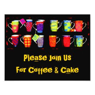 Invitación al azar de la taza de café