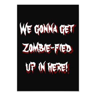 Invitación al fiesta 2 de Halloween del zombi de