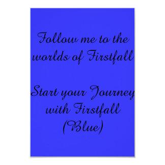 Invitación al firstfall (materiales promocionales)
