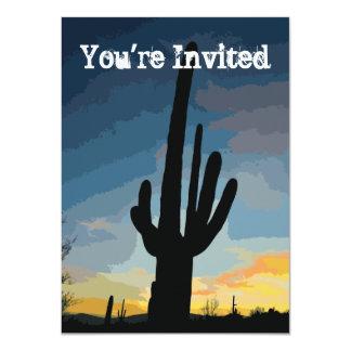 Invitación al sudoeste de la puesta del sol del invitación 11,4 x 15,8 cm