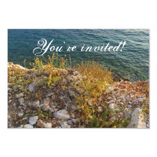Invitación albanesa de la playa invitación 8,9 x 12,7 cm
