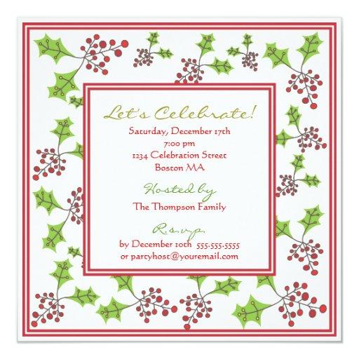Invitación alegre de la celebración de días invitación 13,3 cm x 13,3cm