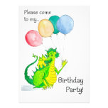 Invitación alegre de la fiesta de cumpleaños del d