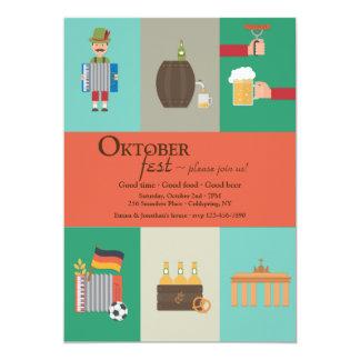 Invitación alemana de Oktoberfest de la cultura