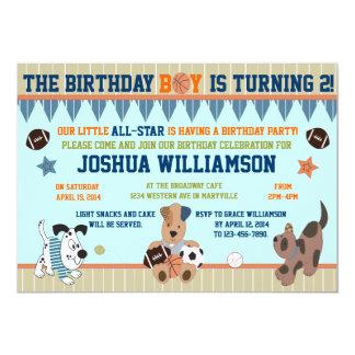 Invitación All-star de la fiesta de cumpleaños del