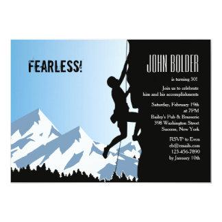 Invitación alpina del escalador