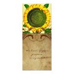 Invitación alta del boda del pergamino del girasol invitación 10,1 x 23,5 cm