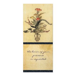 Invitación alta del pergamino japonés del vintage
