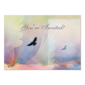 Invitación altísima abstracta de los halcones