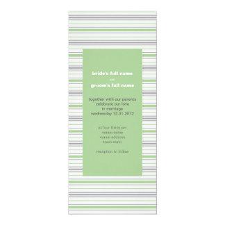 Invitación Amara del boda del pistacho de la raya
