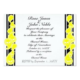 Invitación (amarilla) anversa del boda
