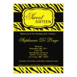 invitación amarilla de la fiesta de cumpleaños del
