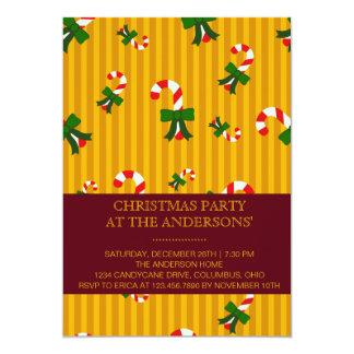 Invitación amarilla de la fiesta de Navidad de