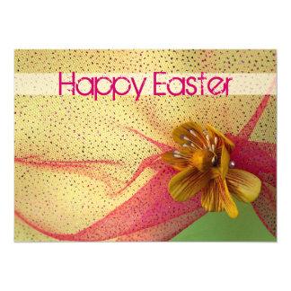 Invitación amarilla de Pascua de la flor
