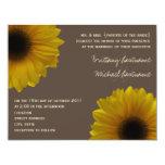 Invitación amarilla del boda de la caída de los invitación 10,8 x 13,9 cm