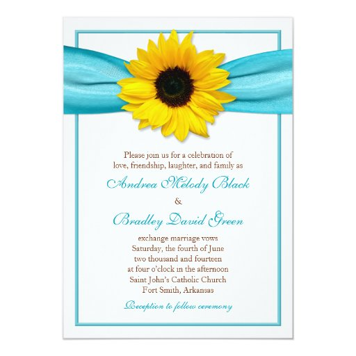 Invitación amarilla del boda de la cinta de la