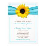 Invitación amarilla del boda de la cinta de la agu