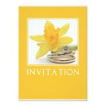 invitación amarilla del boda de la primavera del
