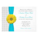 Invitación amarilla del boda del lunar de la aguam