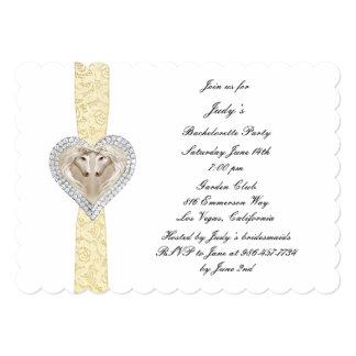 Invitación amarilla del fiesta de Bachelorette del