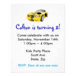 Invitación amarilla del fiesta de los niños del co