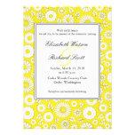Invitación amarilla floral del boda del verano