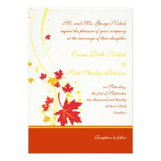 Invitación amarilla roja del personalizado del bod