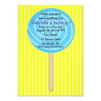 Invitación amarilla y azul del cumpleaños de los