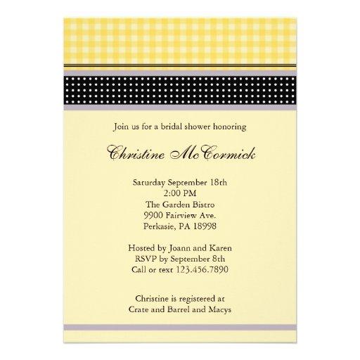 Invitación amarilla y negra elegante